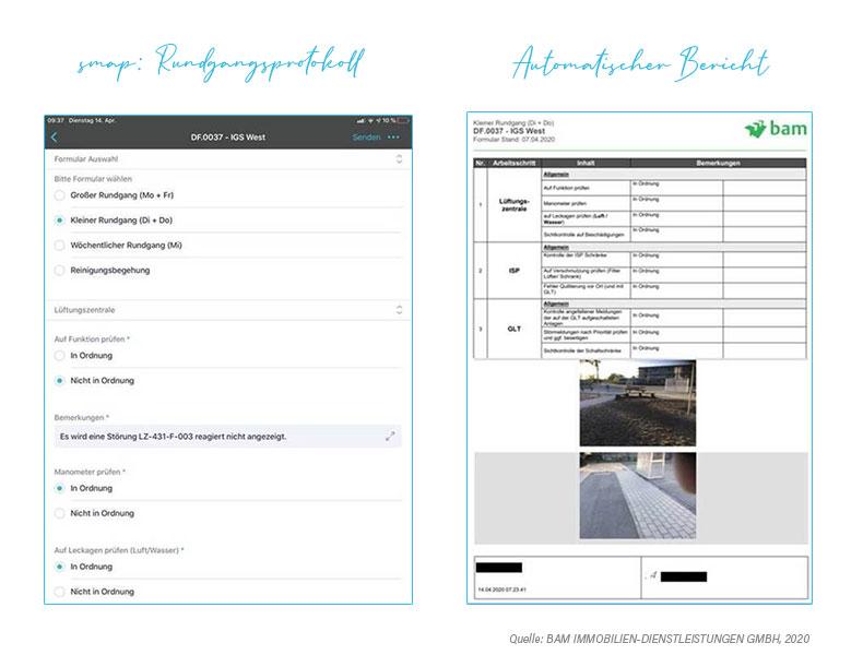Rundgangsprotokoll App | BAM GmbH