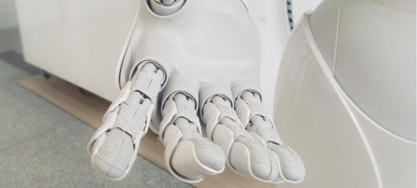 Eine Roboterhand