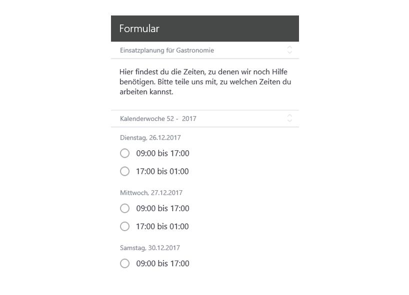 Usability Tipp: Textbausteine für Datenstruktur bei Uhrzeiten