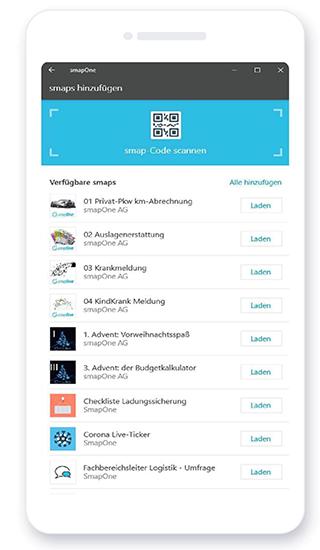 smapOne App - zugewiesene smaps