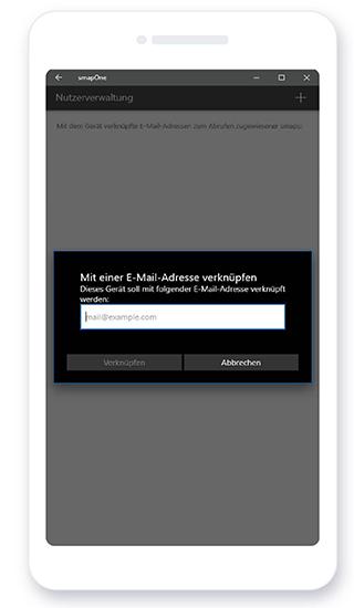 smapOne App - Emailadresse verknüpfen