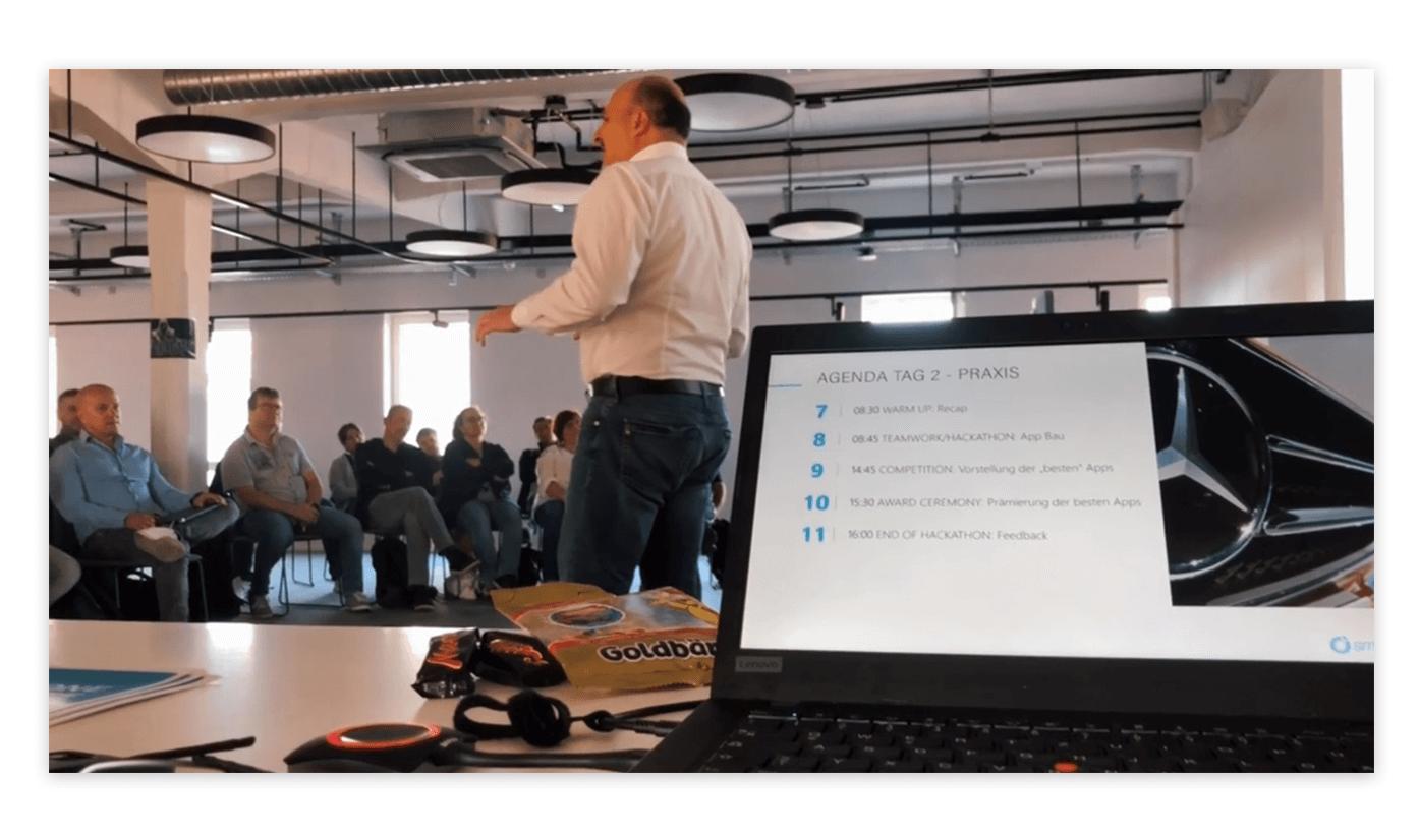 Hackathon-Agenda Tag 2 mit Can